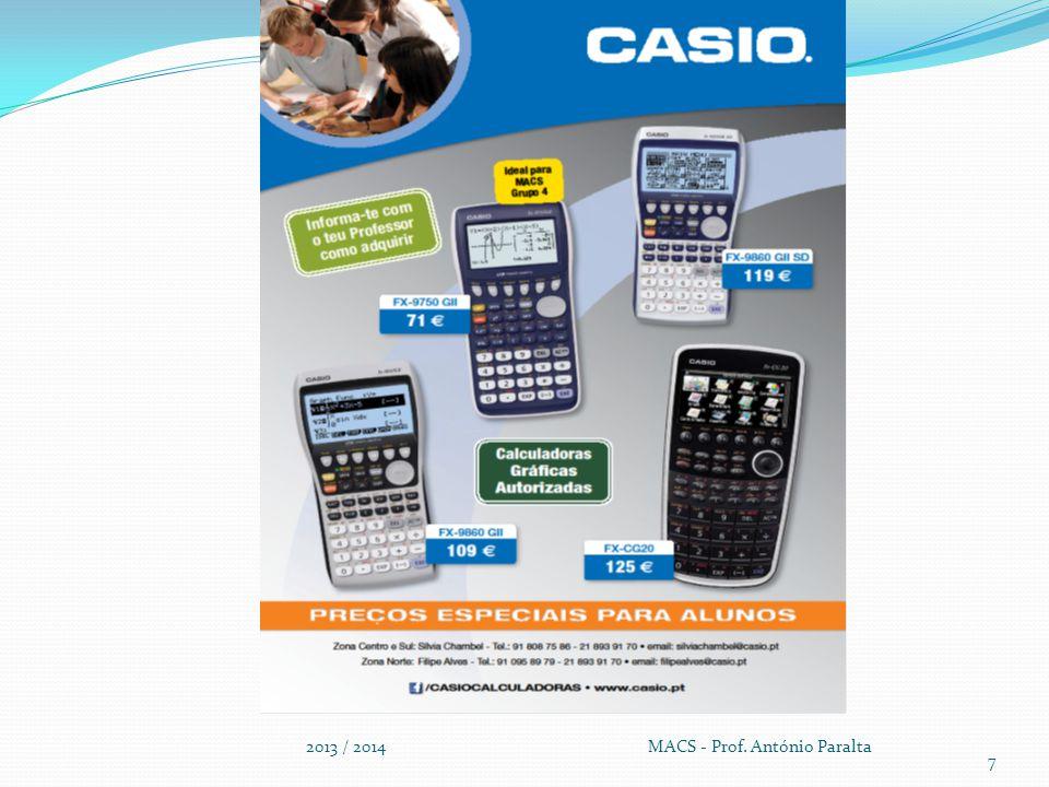 Critérios Específicos de Avaliação de Matemática (Secundário) 2013 / 2014 MACS - Prof.