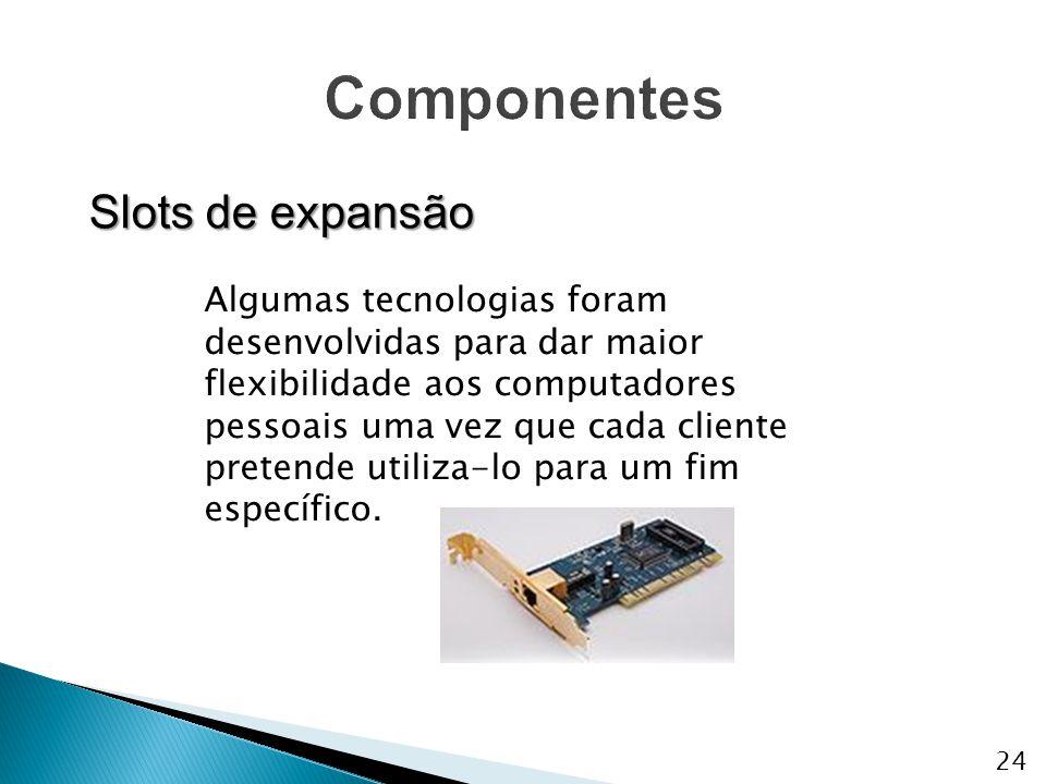 Algumas tecnologias foram desenvolvidas para dar maior flexibilidade aos computadores pessoais uma vez que cada cliente pretende utiliza-lo para um fi