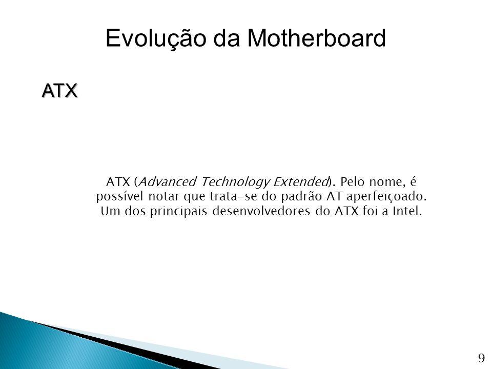 O objectivo do ATX foi de solucionar os problemas do padrão AT, o padrão apresenta uma série de melhorias em relação ao AT.