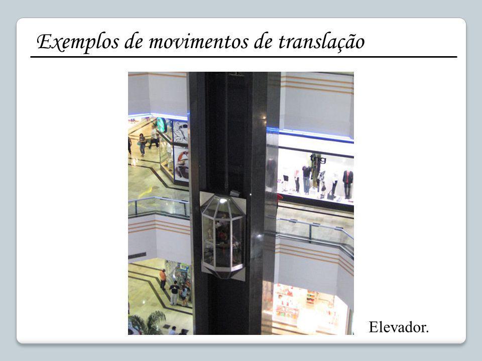 Exemplos de movimentos de translação Elevador.