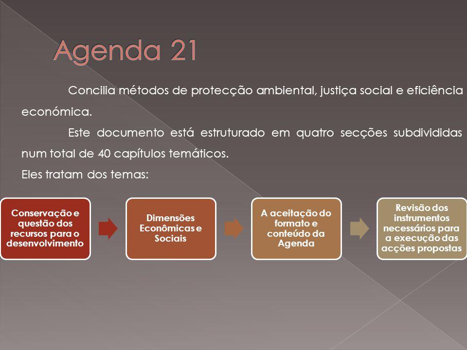 Concilia métodos de protecção ambiental, justiça social e eficiência económica.
