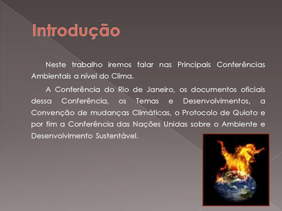 A ECO-92, Rio-92, Cúpula ou Cimeira da Terra são nomes pelos quais é mais conhecida a Conferência das Nações Unidas sobre o Meio Ambiente e o Desenvolvimento (CNUMAD).