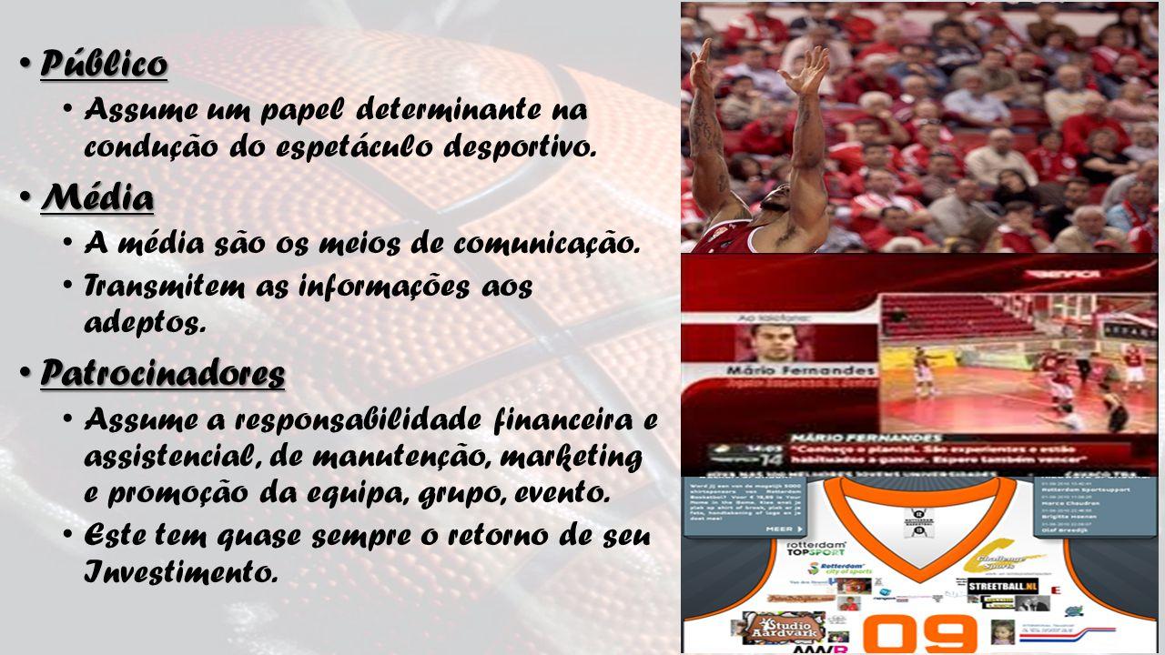 Público Público Assume um papel determinante na condução do espetáculo desportivo.