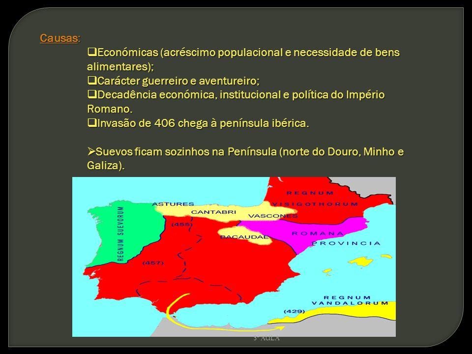 Causas: Económicas (acréscimo populacional e necessidade de bens alimentares); Económicas (acréscimo populacional e necessidade de bens alimentares);
