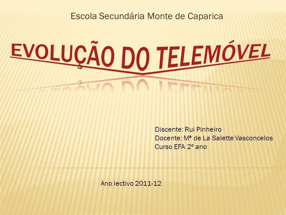 Escola Secundária Monte de Caparica Discente: Rui Pinheiro Docente: Mª de La Salette Vasconcelos Curso EFA 2º ano Ano lectivo 2011-12