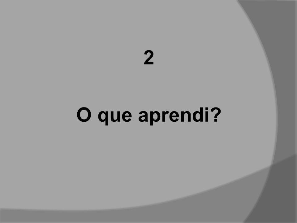 2 O que aprendi?