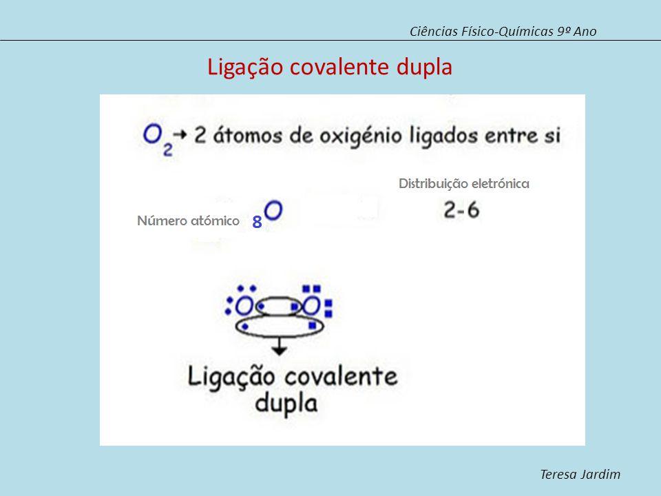 Ligação covalente dupla Ciências Físico-Químicas 9º Ano Teresa Jardim