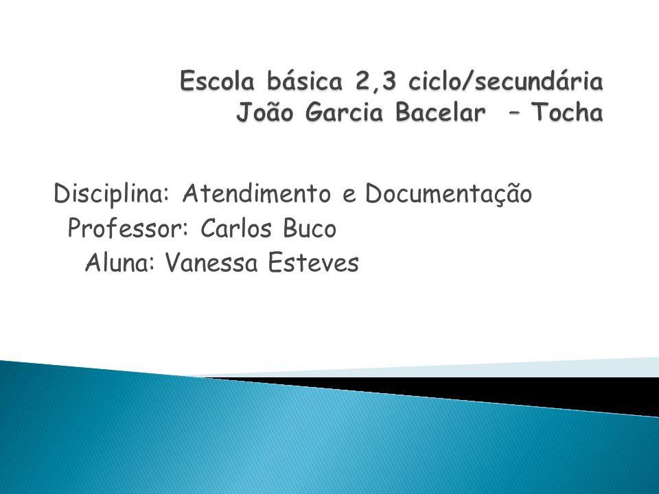 Disciplina: Atendimento e Documentação Professor: Carlos Buco Aluna: Vanessa Esteves