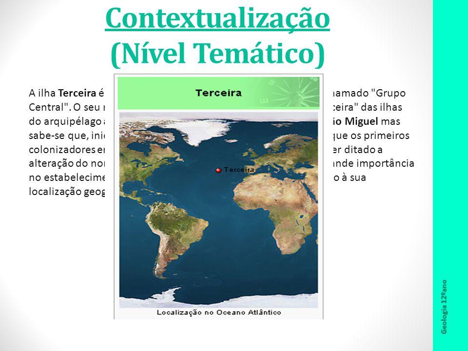 Contextualização (Nível Temático) A ilha Terceira é uma das nove ilhas dos Açores, integrante do chamado