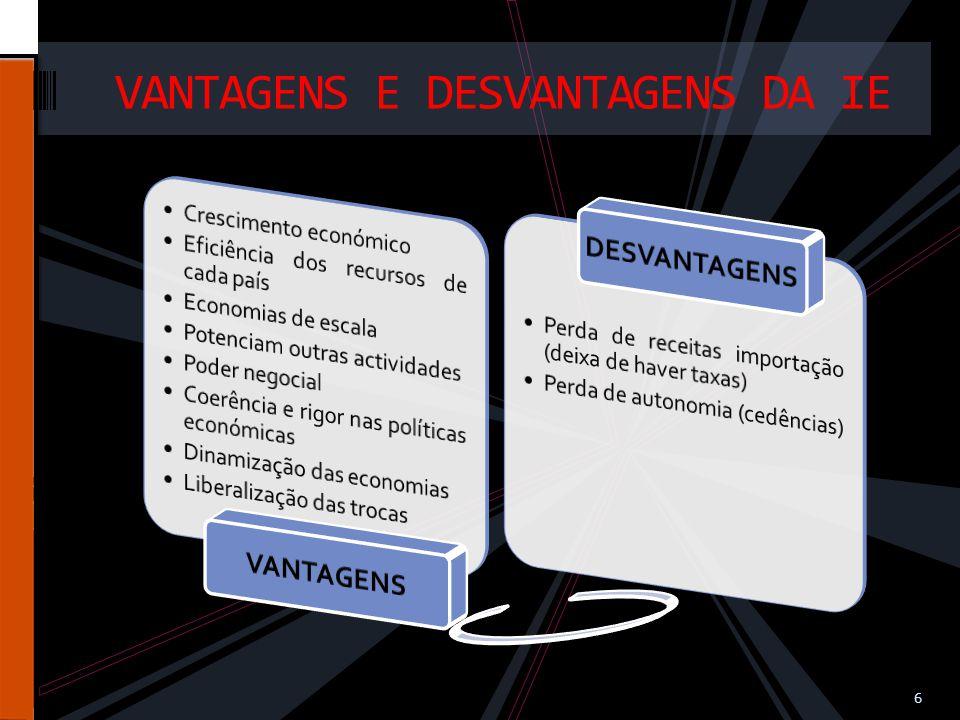 VANTAGENS E DESVANTAGENS DA IE 6