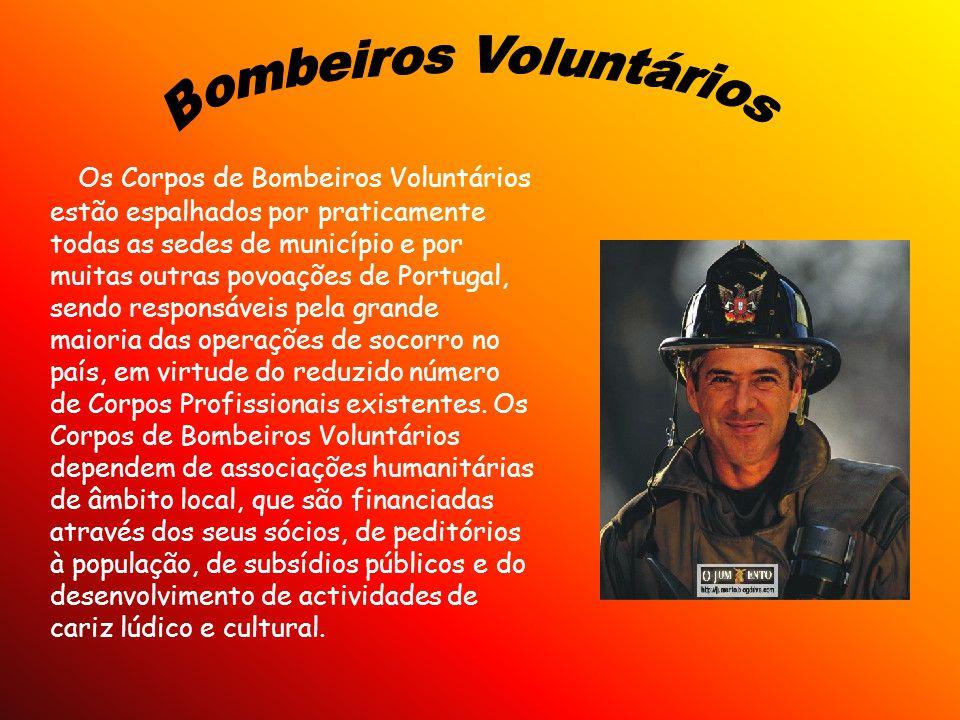 Os Corpos de Bombeiros Voluntários estão espalhados por praticamente todas as sedes de município e por muitas outras povoações de Portugal, sendo resp