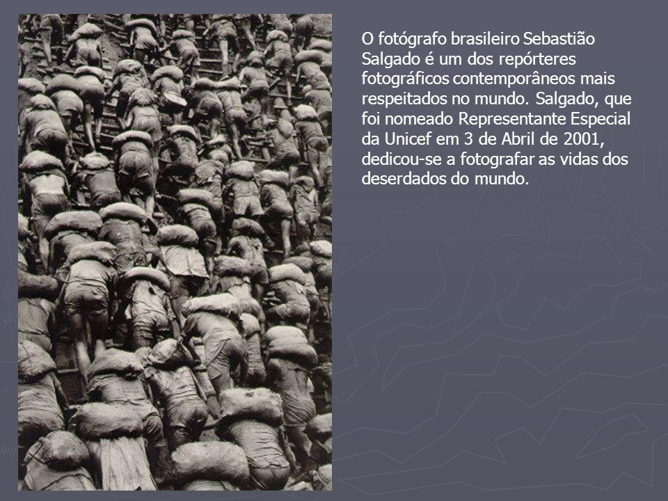 O fotógrafo brasileiro Sebastião Salgado é um dos repórteres fotográficos contemporâneos mais respeitados no mundo. Salgado, que foi nomeado Represent