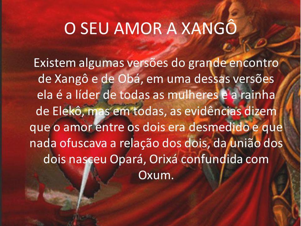 OBBA A união de Xangô e Obá Transcorre um culto nos arredores da cidade, é eleko.