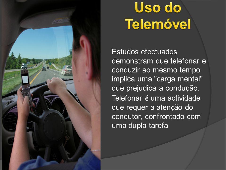 Estudos efectuados demonstram que telefonar e conduzir ao mesmo tempo implica uma