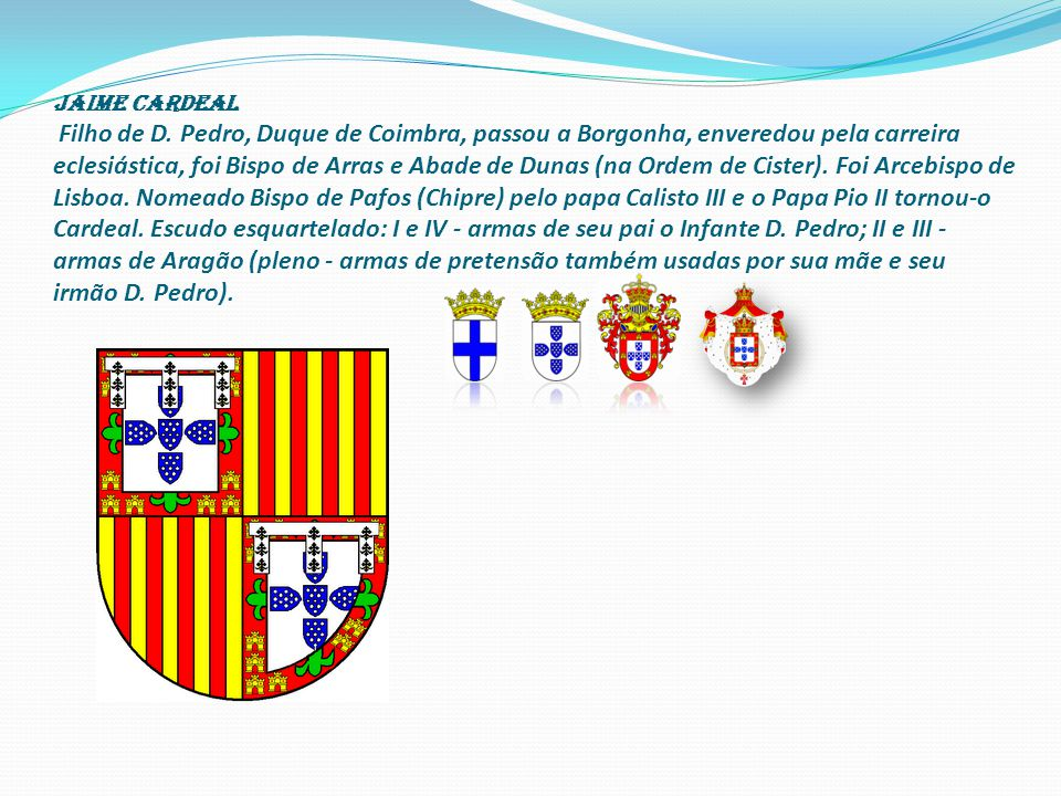 Jaime cardeal Filho de D.
