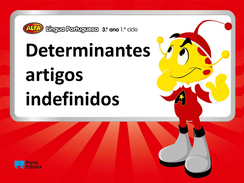 Determinantes artigos indefinidos