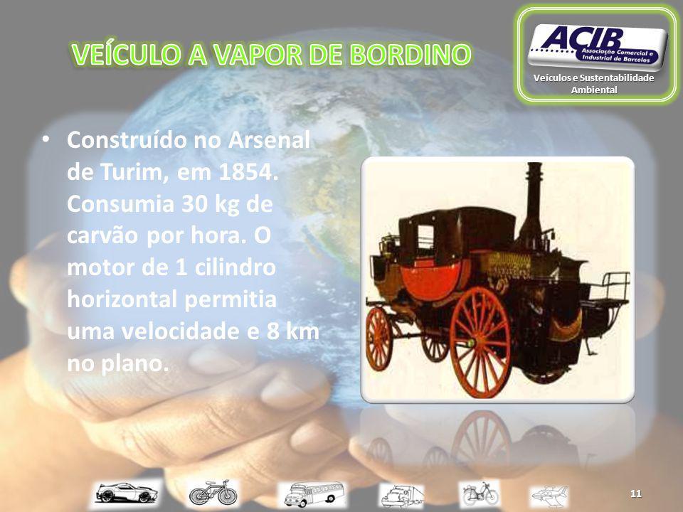 11 Construído no Arsenal de Turim, em 1854. Consumia 30 kg de carvão por hora.
