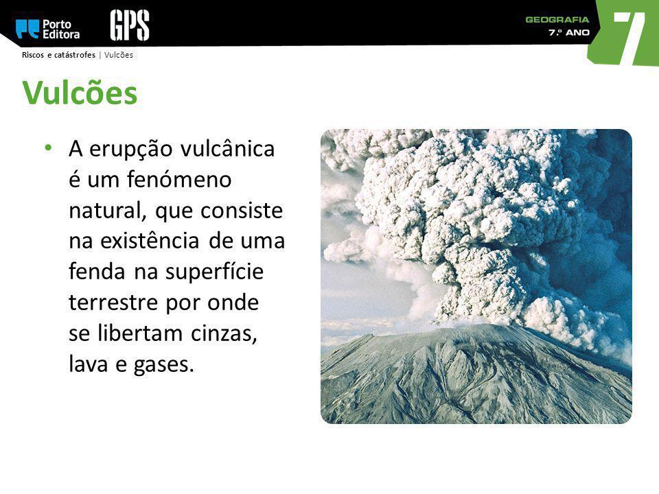 Riscos e catástrofes | Vulcões Vulcões A erupção vulcânica é um fenómeno natural, que consiste na existência de uma fenda na superfície terrestre por