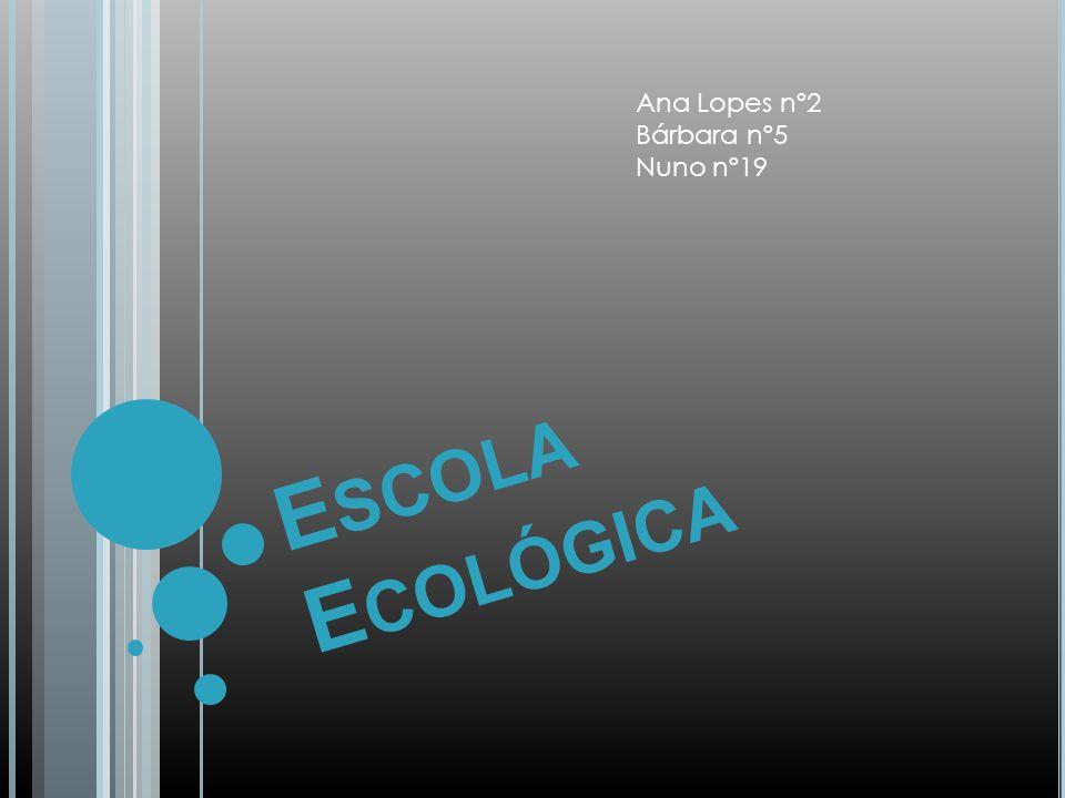 Introdução : Nesta apresentação vamos mostrar-vos como deveria ser a nossa escola a nível ecológicos.