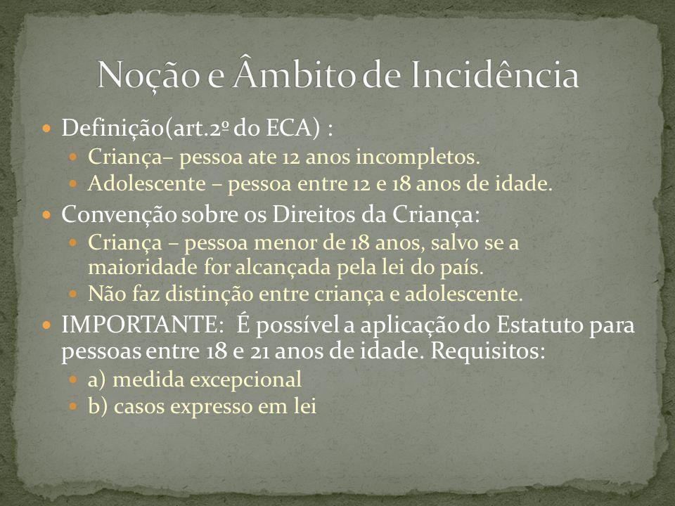 Art.121 § 5º do ECA A liberação será compulsória aos vinte e um anos de idade Art.