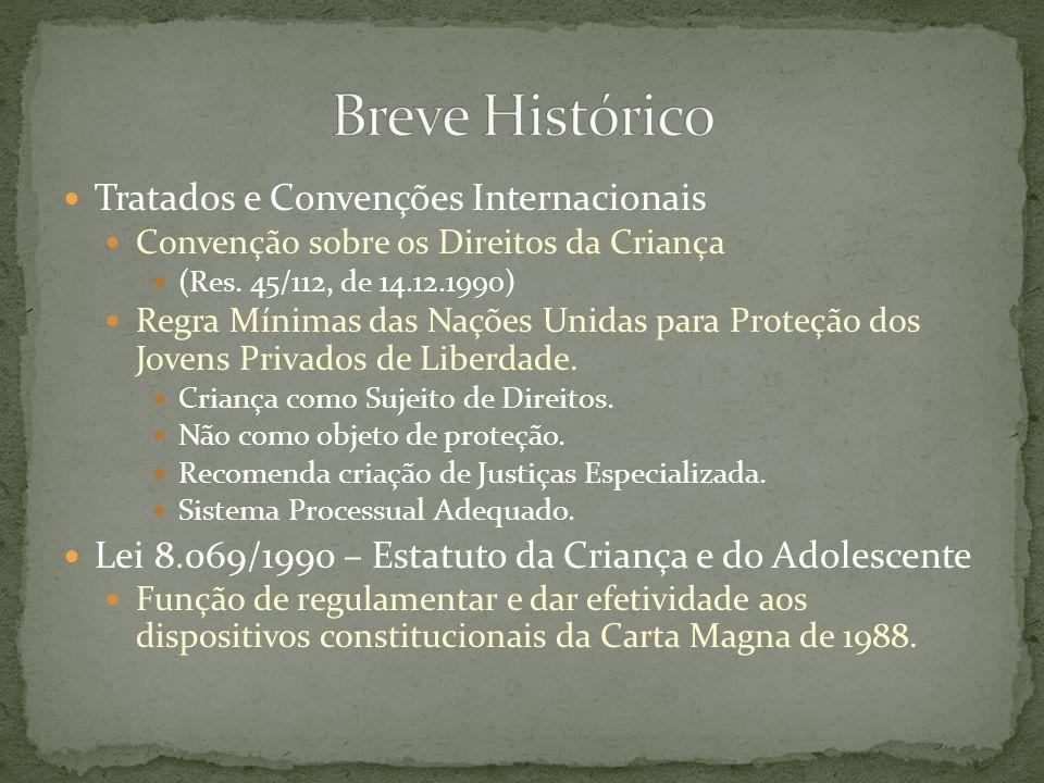 Tratados e Convenções Internacionais Convenção sobre os Direitos da Criança (Res. 45/112, de 14.12.1990) Regra Mínimas das Nações Unidas para Proteção