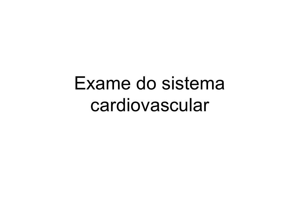 Exame do sistema cardiovascular