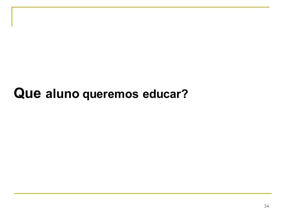 54 Que aluno queremos educar?