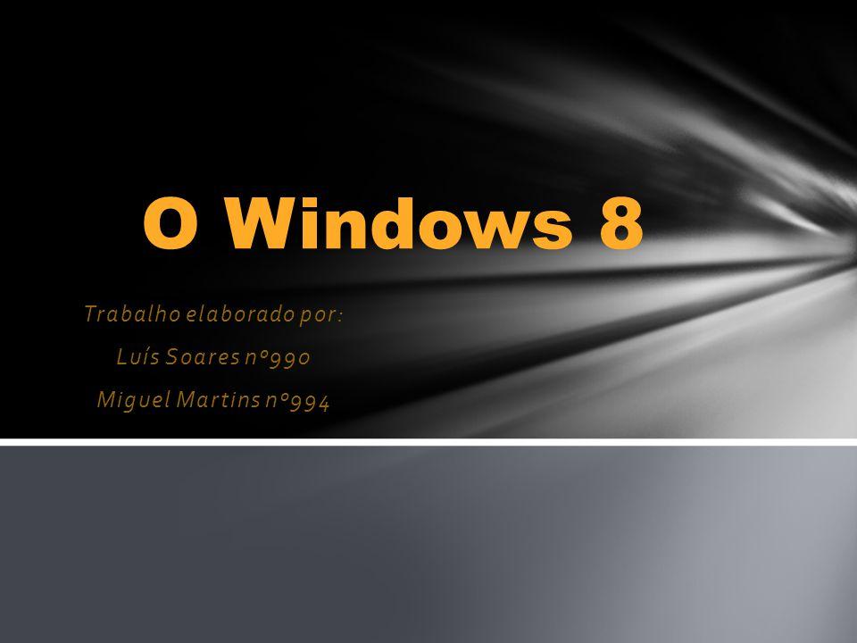 Trabalho elaborado por: Luís Soares nº990 Miguel Martins nº994 O Windows 8