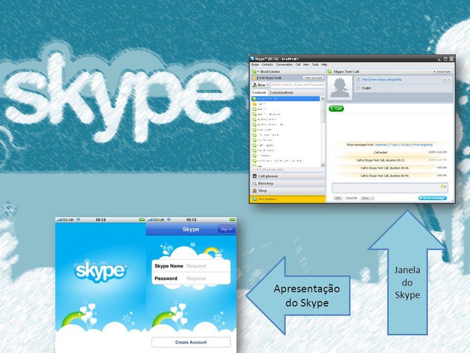 Apresentação do Skype Janela do Skype