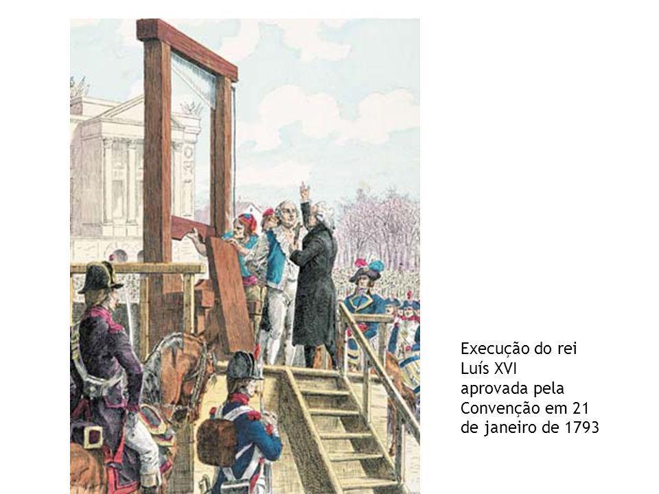 Execução do rei Luís XVI aprovada pela Convenção em 21 de janeiro de 1793