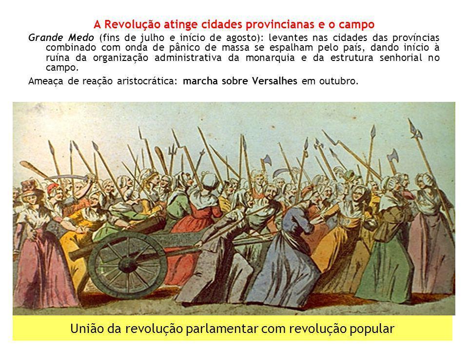 União da revolução parlamentar com revolução popular A Revolução atinge cidades provincianas e o campo Grande Medo (fins de julho e início de agosto):