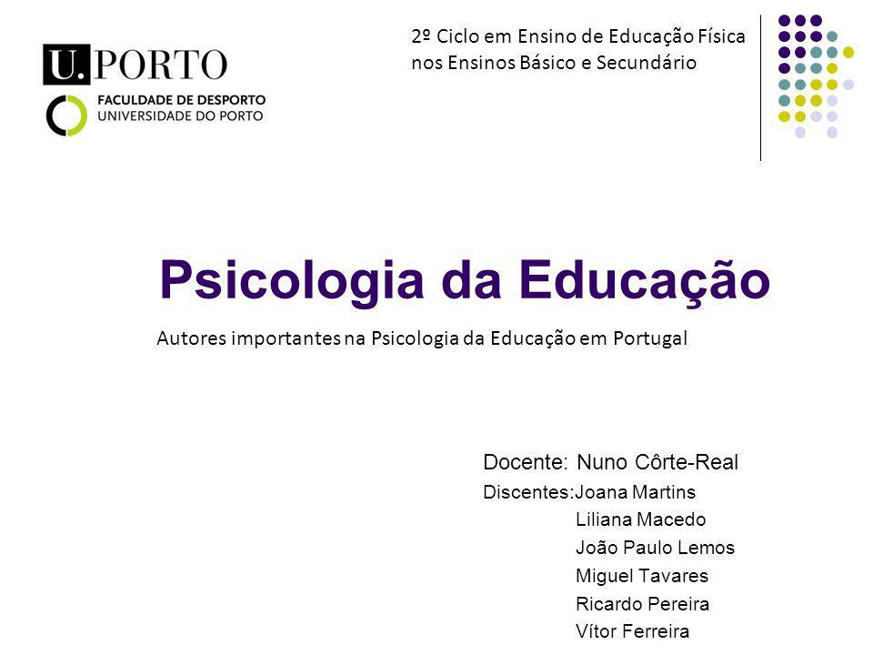 Psicologia da Educação Docente: Nuno Côrte-Real Discentes:Joana Martins Liliana Macedo João Paulo Lemos Miguel Tavares Ricardo Pereira Vítor Ferreira
