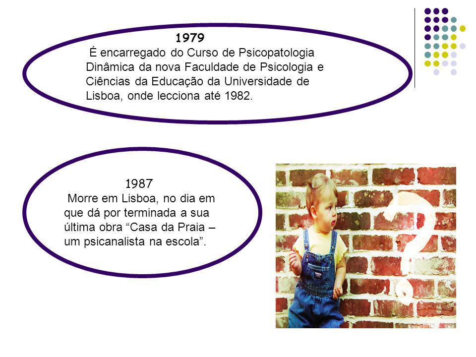 1979 É encarregado do Curso de Psicopatologia Dinâmica da nova Faculdade de Psicologia e Ciências da Educação da Universidade de Lisboa, onde lecciona
