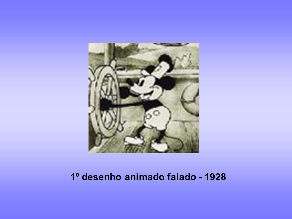 Cinema de animação 1908:1º filme de desenho animado: Fantasmagoria No Brasil 1917: O Kaiser de Álvaro Martins 1953: Sinfonia Amazônica de Anélio Lattini Filho – 1º filme de desenho animado de longa- metragem 1980: Maurício de Souza 1923: estúdio Disney