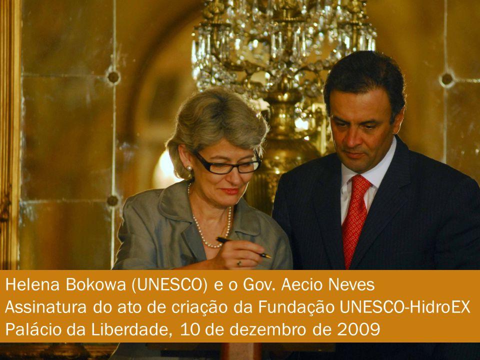 Helena Bokowa (UNESCO) e o Gov.