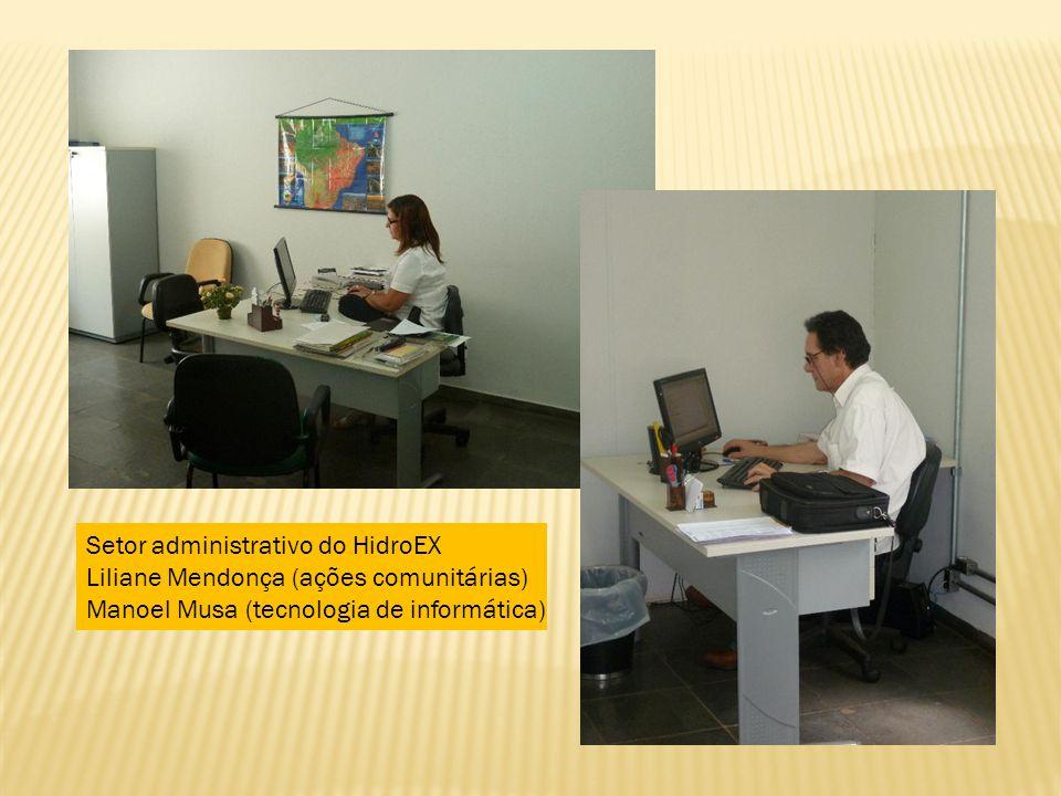Liliane Mendonça (ações comunitárias) Manoel Musa (tecnologia de informática)