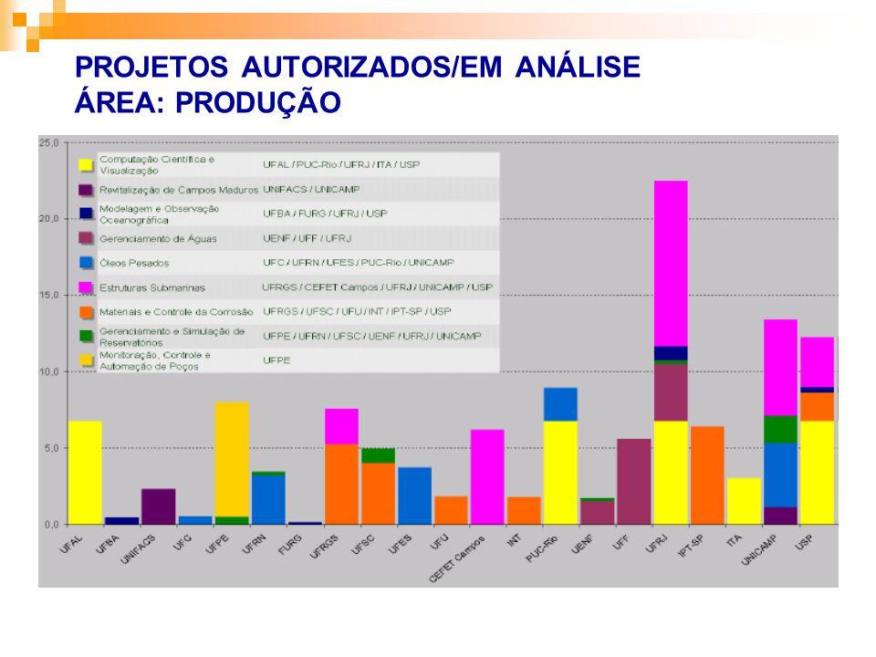 PROJETOS AUTORIZADOS/EM ANÁLISE ÁREA: PRODUÇÃO