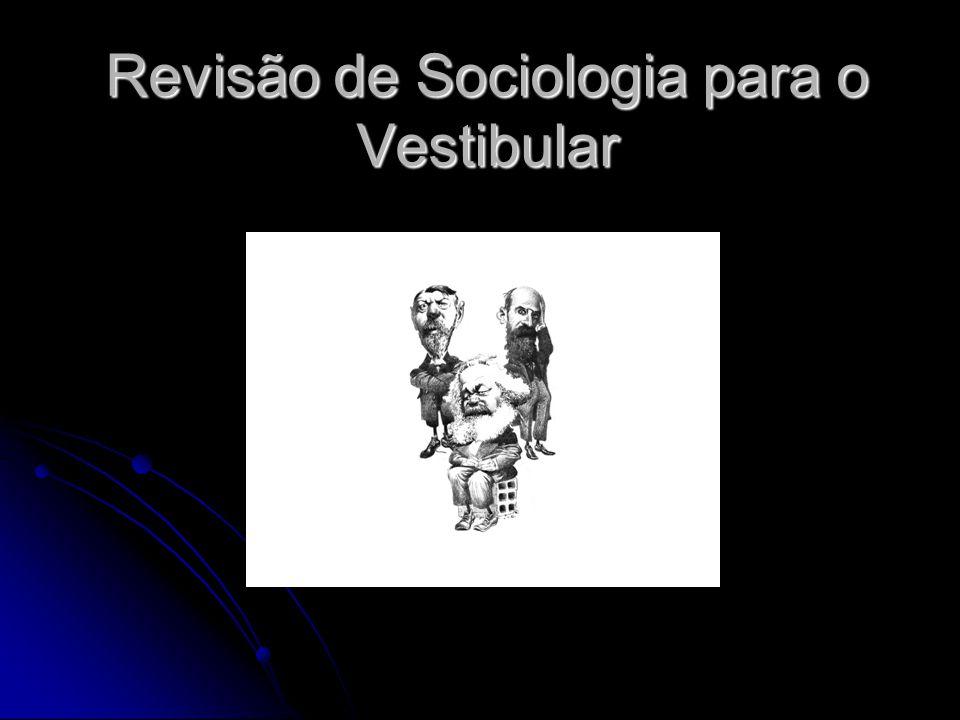 Revisão de Sociologia para o Vestibular