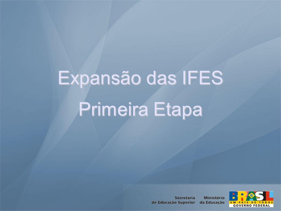 Expansão das IFES Primeira Etapa