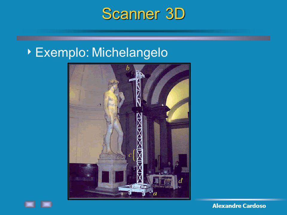 Alexandre Cardoso Scanner 3D Exemplo: Michelangelo