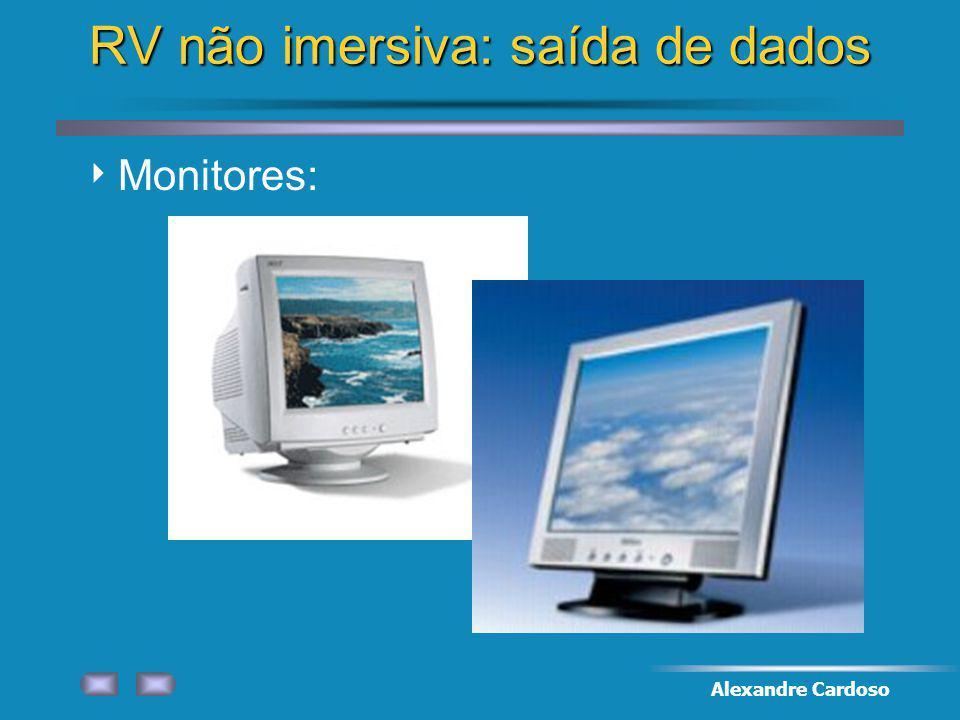 Alexandre Cardoso RV não imersiva: saída de dados Monitores: