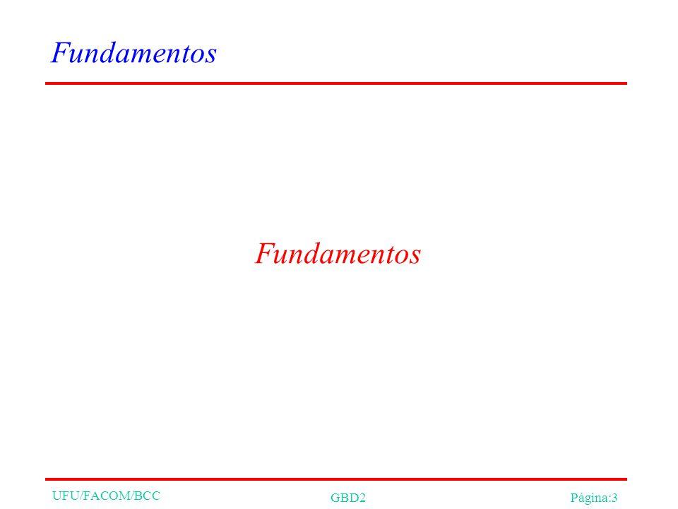 UFU/FACOM/BCC GBD2Página:3 Fundamentos