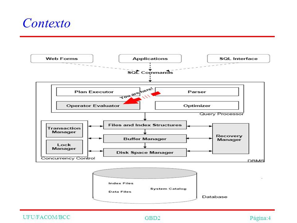 UFU/FACOM/BCC GBD2Página:4 Contexto