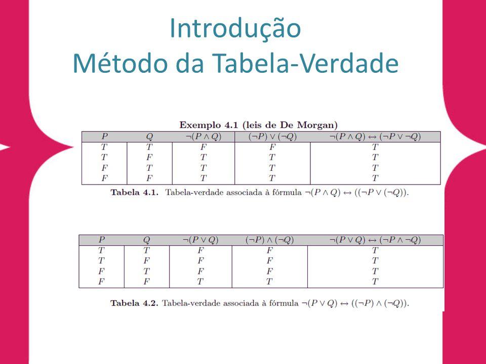 Introdução Método da Tabela-Verdade