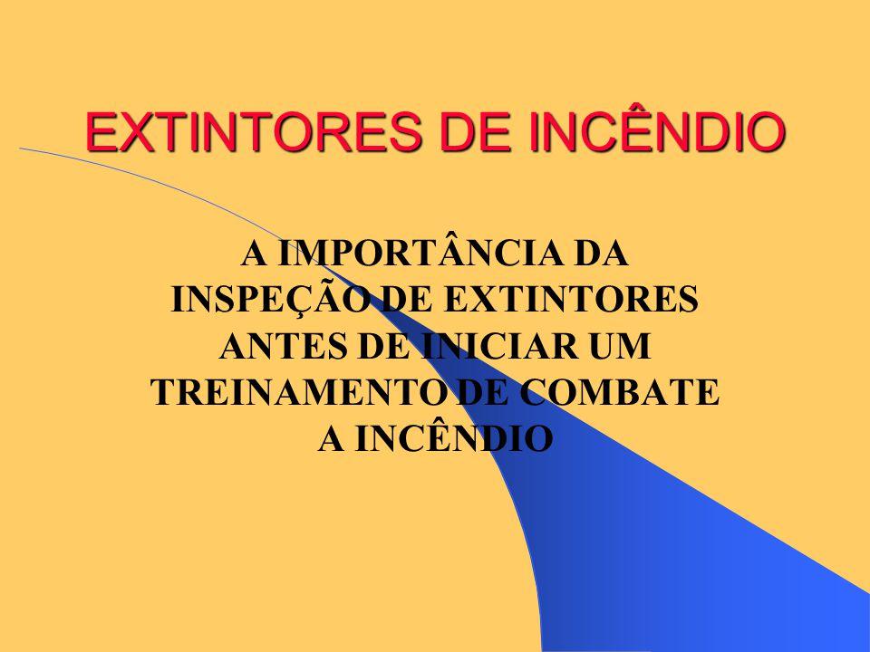 EXTINTORES DE INCÊNDIO A IMPORTÂNCIA DA INSPEÇÃO DE EXTINTORES ANTES DE INICIAR UM TREINAMENTO DE COMBATE A INCÊNDIO