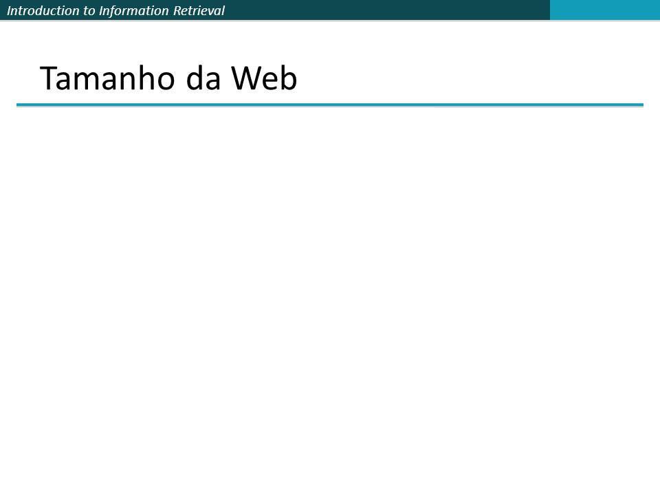 Introduction to Information Retrieval Qual é o tamanho da Web .