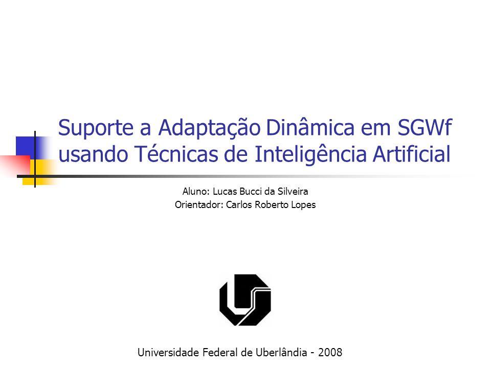 Suporte a Adaptação Dinâmica em SGWf usando Técnicas de Inteligência Artificial Aluno: Lucas Bucci da Silveira Orientador: Carlos Roberto Lopes Univer