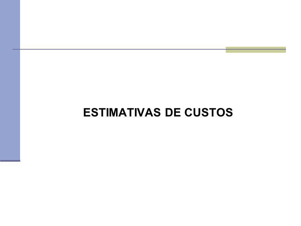 ESTIMATIVAS DE CUSTOS