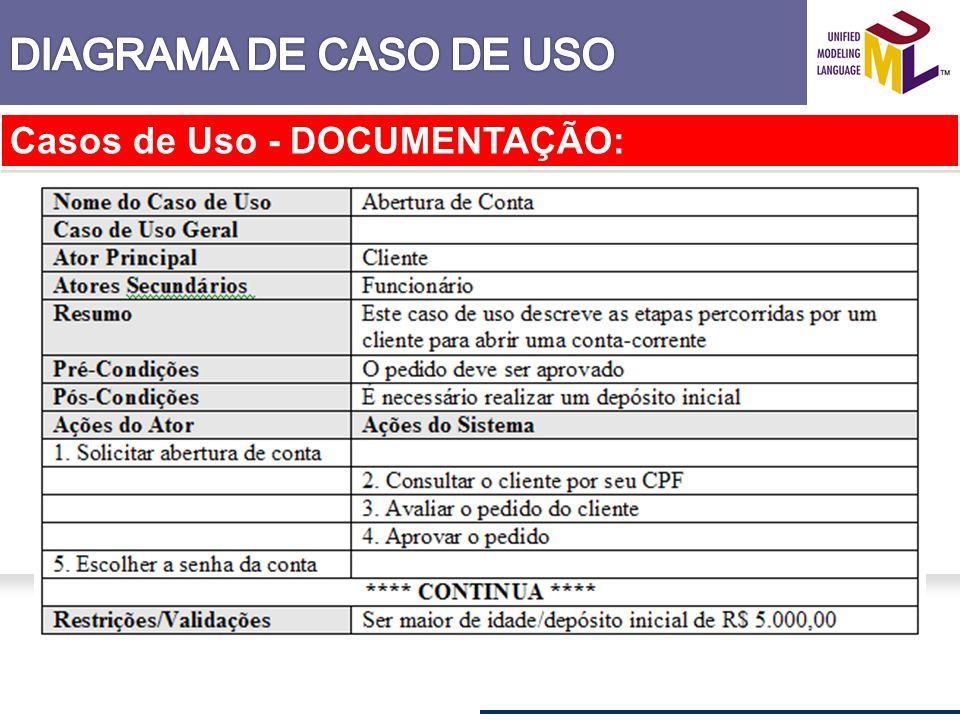 Casos de Uso - DOCUMENTAÇÃO: