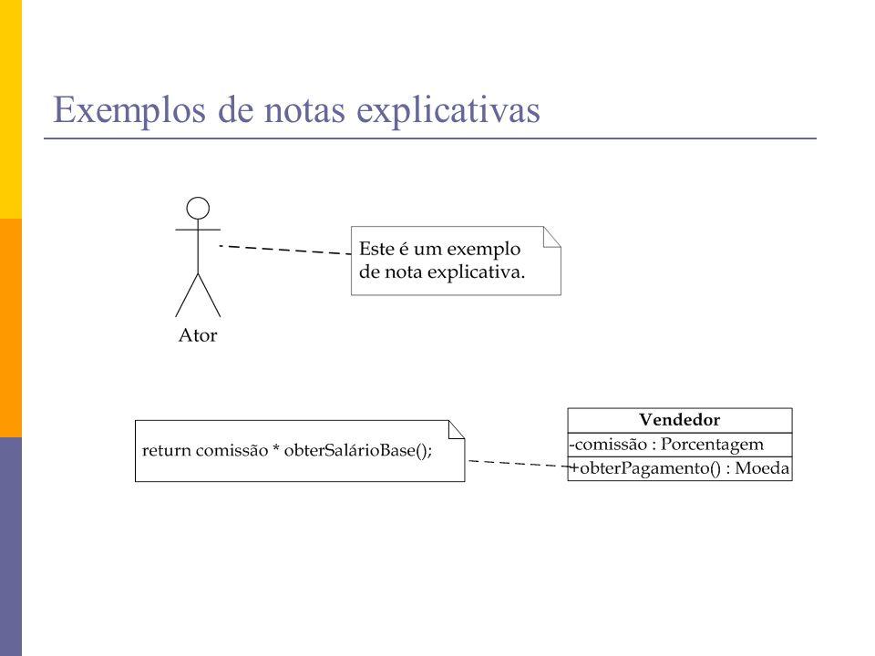 Exemplos de notas explicativas